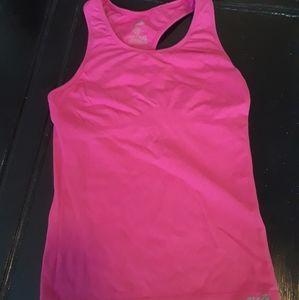 Pink fitness tank